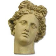 Apollo Antiquity Head 10in. High - Fiberglass - Outdoor Statue
