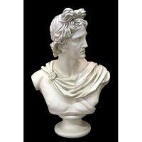 Apollo Bust Giant 38in. Fiberglass Indoor/Outdoor Garden Statue