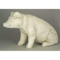 Arnold The Pig Sitting 15in. Fiberglass Indoor/Outdoor Statue