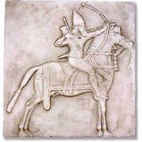 Assyrian Horseman Frieze Fiberglass Indoor/Outdoor Garden Statue