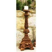 Astaire Candleholder 22in. - Fiber Stone Resin - Indoor/Outdoor Statue