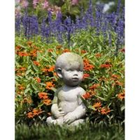 Baby By Ann Copper 12in. Fiber Stone Resin Indoor/Outdoor Statue