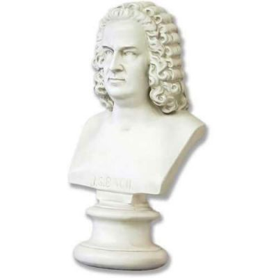 Bach Bust Medium 17in. Fiberglass Indoor/Outdoor Garden Statue -  - F166