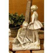Ballerina Sisters 14in. - Fiber Stone Resin - Indoor/Outdoor Statue