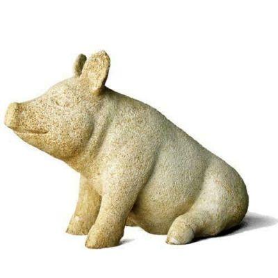 Barnyard Pig Fiber Stone Resin Indoor/Outdoor Garden Statue/Sculpture -  - FS8727