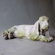 Basset - Fiber Stone Resin - Indoor/Outdoor Garden Statue/Sculpture