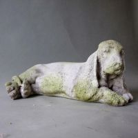 Basset - Fiber Stone Resin - Indoor/Outdoor Garden Statue/Sculpture