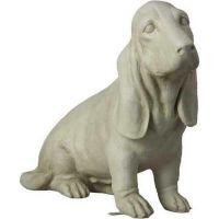 Basset Hound 18in. - Fiberglass - Indoor/Outdoor Garden Statue