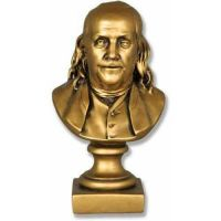 Ben Franklin Bust - 8in. Fiberglass Indoor/Outdoor Garden Statue