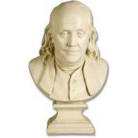 Benjamin Franklin Bust Houdon 23in. - Fiberglass - Outdoor Statue