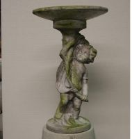 Boy Of Barga Birdbath - Fiber Stone Resin - Indoor/Outdoor Statue