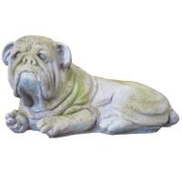 Bruno Bulldog - Fiber Stone Resin - Indoor/Outdoor Statue/Sculpture