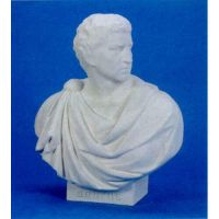 Brutus Robed Bust 33in. Fiberglass Indoor/Outdoor Garden Statue