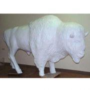 Buffalo Lifesize 6 Ft Fiberglass - Indoor/Outdoor Garden Statue