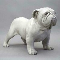 Bulldog 17 Inch Fiberglass Indoor/Outdoor Statue/Sculpture