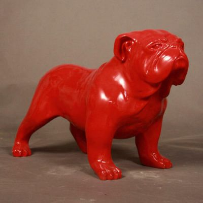 Bulldog Glossy Colors Fiberglass Indoor/Outdoor Garden Statue -  - F8490GC