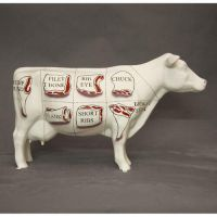 Butcher's Cow Chart - Fiberglass - Indoor/Outdoor Garden Statue
