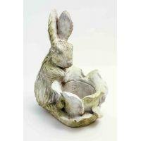 Cabbage Patch Rabbit Fiber Stone Resin Outdoor Garden Statue/Sculpture