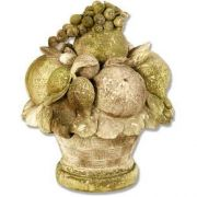 Carved Fruit 14in. - Fiber Stone Resin - Indoor/Outdoor Garden Statue