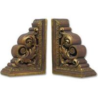Carved Scroll Bookends Fiberglass Indoor/Outdoor Garden Statue