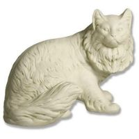 Cat By Benson 12in. - Fiberglass - Indoor/Outdoor Garden Statue