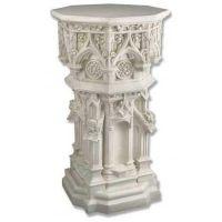 Cathedral Riser Stand Pedestal Statue Base 44 In. Fiberglass Statue
