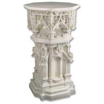 Cathedral Riser Stand Pedestal Statue Base 44 In. Fiberglass Statue -  - F7212