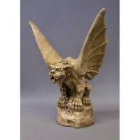 Chained Gargoyle Of Turin 17in. - Fiberglass - Outdoor Statue