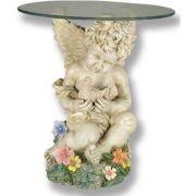 Cherub w/Dove Coffee Table - Fiberglass - Indoor/Outdoor Statue