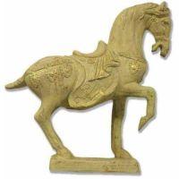 China Horse 16in. - Fiberglass Resin - Indoor/Outdoor Garden Statue