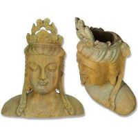 Chinese Goddess Bust Planter - Fiber Stone Resin - Outdoor Statue