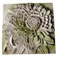 Chrysanthemum Plaque Fiber Stone Resin Indoor/Outdoor Garden Statue