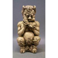 Chubby Greek Pan 14in. Fiberglass Indoor/Outdoor Garden Statue