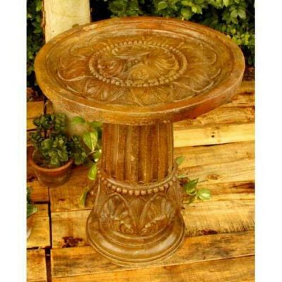 Cinzia Bird Bath 28in. - Fiber Stone Resin - Indoor/Outdoor Statue -  - FS8275