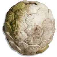 Clam Shell Vase 17in. Fiber Stone Resin Indoor/Outdoor Garden Statue