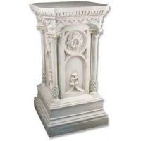 Columned Church Riser Stand Pedestal Statue Base Fiberglass Statue