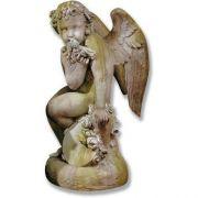Como Cherub / Doll w/Wings - Fiber Stone Resin - Indoor/Outdoor Statue