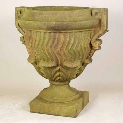 Constantine Urn 28in. Fiberglass Indoor/Outdoor Garden Statue -  - F7847