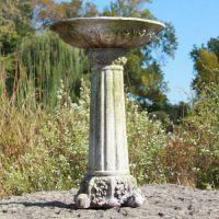 Corinthian Birdbath - Fiber Stone Resin - Indoor/Outdoor Garden Statue