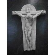 Crucifixion Art (Ignatius) 35in. - Fiberglass - Outdoor Statue