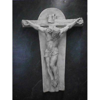 Crucifixion Art (Ignatius) 35in. - Fiberglass - Outdoor Statue -  - F9014