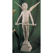 Cupid Vici w/Bow Large 24in. - Fiberglass Resin - Outdoor Statue