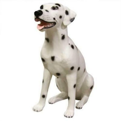 Dalmatian Sitting 24 Inch Fiberglass Indoor Church Statue/Sculpture -  - F6758RLC
