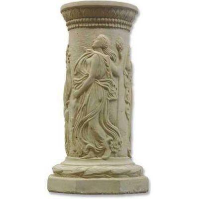 Dancing Muse Riser Stand Pedestal Statue Base 22in. - Fiberglass Resin -  - F010