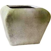 Dani Modern Square 16in. Fiber Stone Resin Indoor/Outdoor Statue