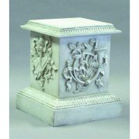 Decorative Horn Riser Stand Pedestal Statue Base 23in. Fiberglass