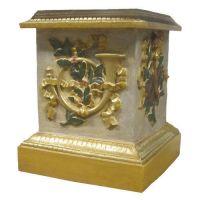 Decorative Horn Riser Stand Pedestal Statue Base 23in. - Fiberglass