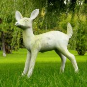 Deer Fawn Fiber Stone Resin Indoor/Outdoor Garden Statue/Sculpture