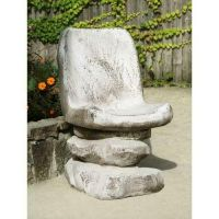 Desert Chair 32 In. Fiber Stone Resin Indoor/Outdoor Statue/Sculpture