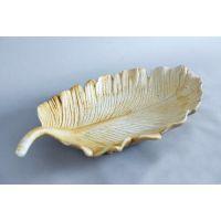Desert Leaf Plate Fiber Stone Resin Indoor/Outdoor Statue/Sculpture